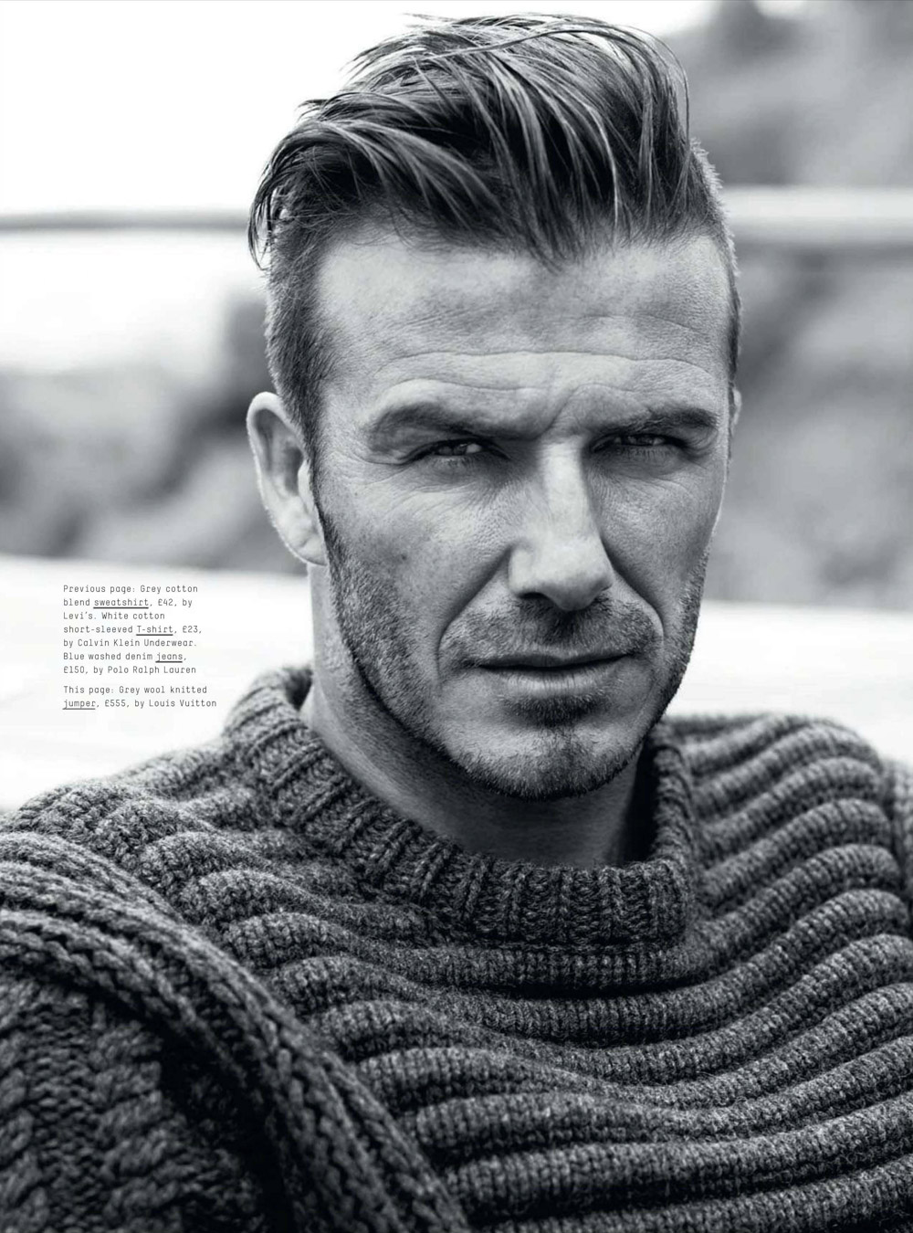 David beckham for esquire uk september 2012 un vaillant martien for David beckham